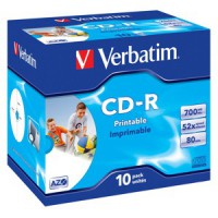 CD-R Verbatim 48x 700MB Printable/10 ks