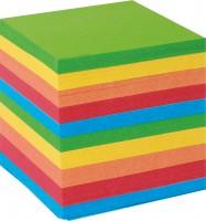 Poznámkový blok kocka farebný 9x9x9cm nelepený