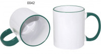 Ceramic design, 0042 - biela/zelená tmavá