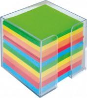 Poznámkový blok kocka farebný v krabičke 9x9x9cm nelepený