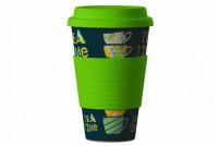 Eco Bamboo Cup - Tea Time Green
