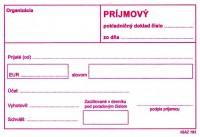 Príjmový pokladničný doklad, A6, 100 listov, bez DPH  (IGAZ 193)
