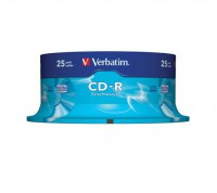 CD-R Verbatim 700MB 52x cake 25 ks