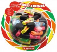 Zvýrazňovač STABILO BOSS MINI Sweet Friends 50 ks Display Bo