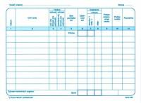 Záznam o prevádzke motorového vozidla osobnej dopravy, A5, 60 listov,   (IGAZ 56)