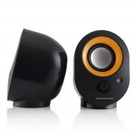 Reproduktory Modecom MC-XS5, USB napájanie,čierno-oranžové